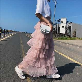 [熱賣] 網紗蛋糕裙半身裙 3色 F
