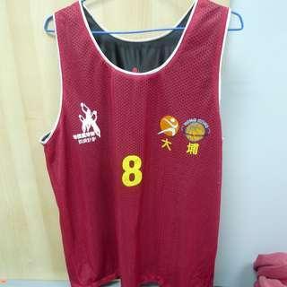 大埔區隊訓練 籃球 雙面球衣 波衫