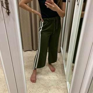 Stripes Trackpants Army Green