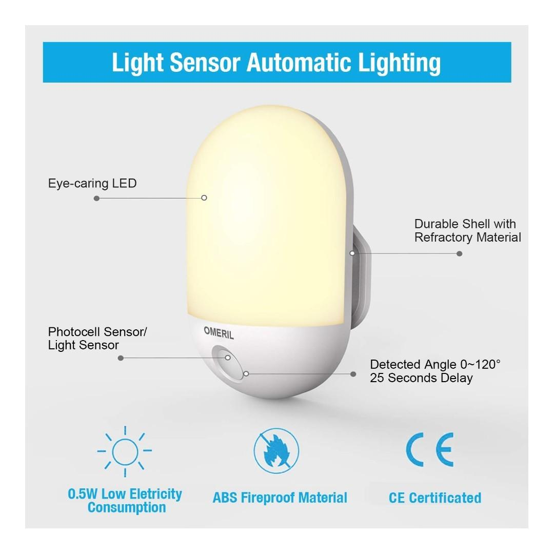 LED Night Light iTechole Plug-and-Play Automatic Wall Lights with Dusk to Dawn