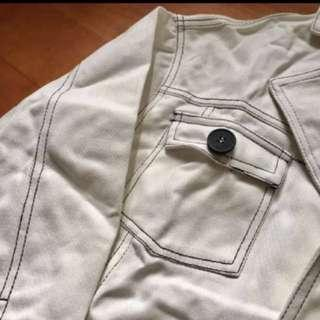 Oversized White Denim Jacket 牛仔褸 牛仔外套