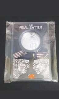 Final battle 2018 silver medallion coin PRU 14
