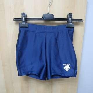 全新 Descente 深藍色運動打底緊身褲 日本版