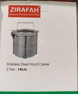 2 tier stainless steel food container
