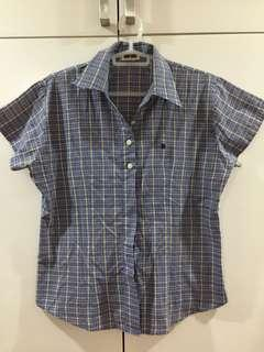 Blue checkered top from Thailand
