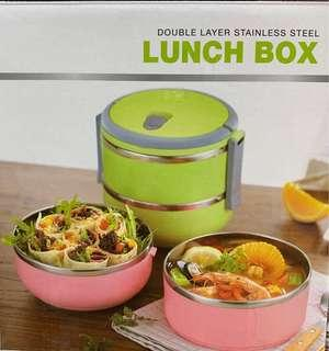 Double Layer 2 tier Stainless Steel Lunch Box