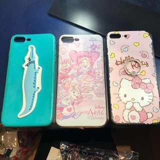 🚚 iPhone 8plus手機殼 鱷魚 愛麗絲 Hellokitty