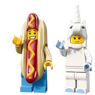 Lego Unicorn Girl and Hotdog Guy