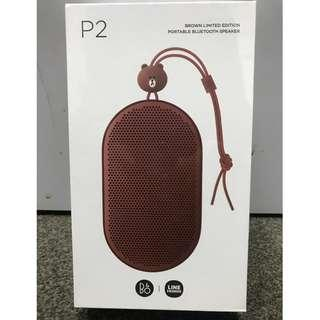 Bang & Olufsen Beoplay B & O P2 x Line Brown Limited Edition Bluetooth Speaker, Brown 100%全新