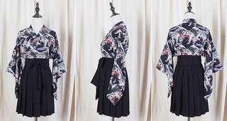 日系 鯉魚 羽織 和服 外套