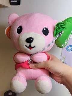 🚚 (二手)粉紅色熊熊🐻娃娃