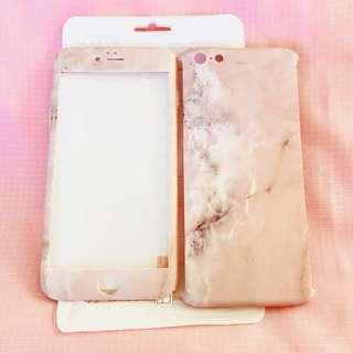 Soft pink aesthetic double sided marble iPhone 6/S PLUS phone case