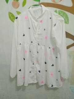 Babydoll Mickey white dress