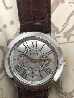 Titus Brown Leather Watch