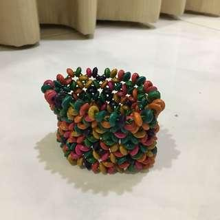 [Preloved] Colourful Rainbow Bracelet Stretchable