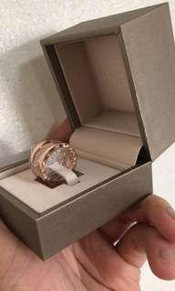 🚚 🔥Bvlgari B.zero 18k Rose Gold Ring