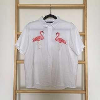 🚚 Flamingo White Top