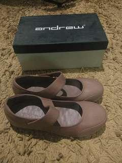Flat Shoes Ballerina in Pinkish Brown By Andrew