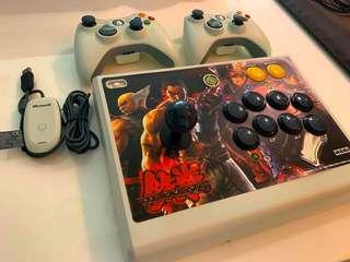 Wireless fight stick and controller set