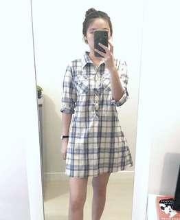 Oversized kemeja dress style