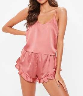 ⭐️BNWT Missguided Rose Pink Satin PJ Set #swapau