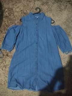 Graphis Open Shoulder Mini dress