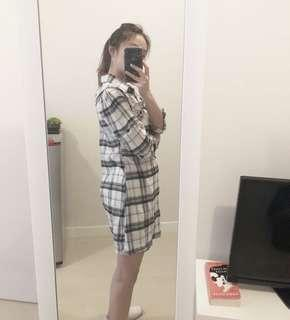 Oversized dress kemeja black
