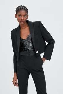 Bnwt zara crop blazer suit