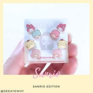 Sanrio Ear Studs (Melody,my Little twin star,Pom Pom purin)