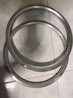 2 x Brompton rims stock ones with spokes and nipples