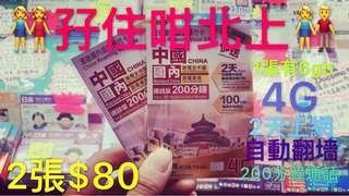 中國2天6gbx2
