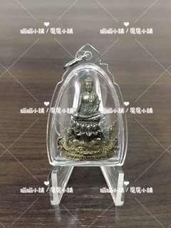 魔魔小舖 泰國佛牌:龍普年(龍普念) 佛曆2561年 雙水龍護法佛祖座蓮小立尊(聖銅版)