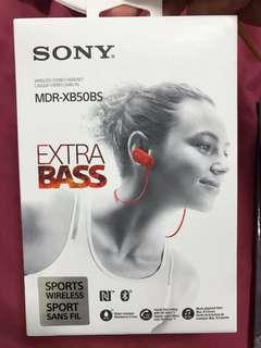 🚚 MDR-XB50BS SONY 藍芽 防水 運動耳機