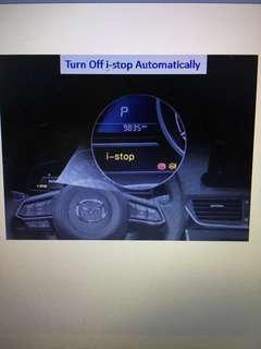 I-stop Mazda 3 auto turn off