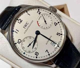 IWC  Portuguses 7 Days PR Steel Automatic IW500107 Blue Hands
