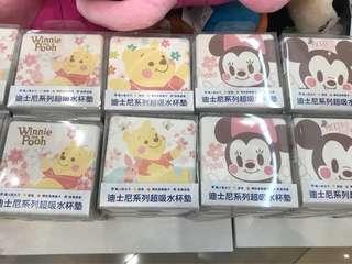 🚚 櫻花季限定🌸迪士尼超吸水杯墊☕️