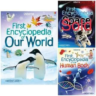 🚚 Brand New Usborne First Encyclopedia books