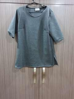 Neoprene plain blouse