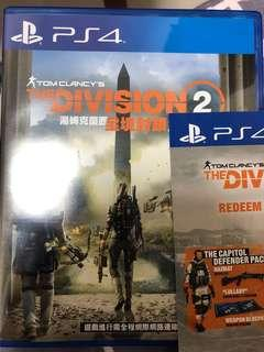 PS4 Game division 2 有code