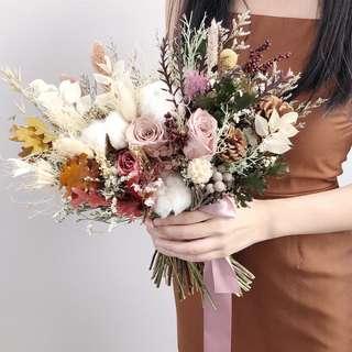 Preserved Bridal Bouquet | Wedding Bouquet | Hand Bouquet | Preserved Flower | ROM flower | dried flower bouquet |Flower Delivery | 新娘手捧花 |手捧花 |永生手捧花 鲜花运送