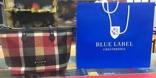 Blue Lable Crest Big Check Pvc Tote Bag Red(Japan)