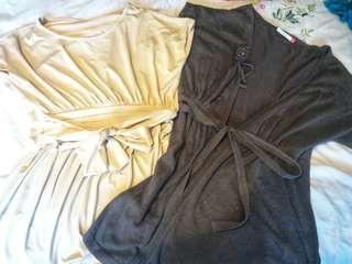 Set of 2 blouse / cardigan