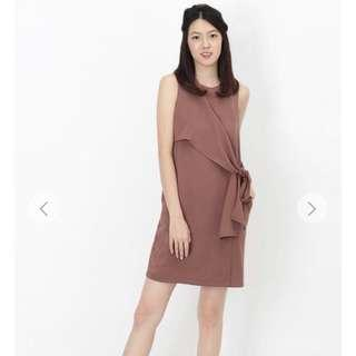 🚚 [A For Arcade] Jodie Side Tie Dress In Dusty Rose