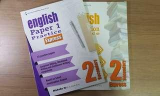 🚚 Sec 2 English Paper 1/Paper 2 practice books