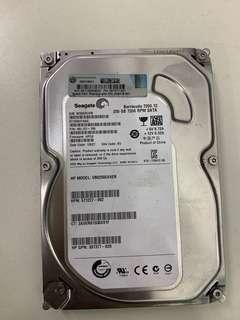 250GB seagate 7200rpm  (HP)
