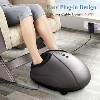 Shiatsu Foot Massager Electric Heat Kneading -Foot Massage Machine with Rolling and Air Compression for Home and Office for Men and Women  by MARNUR (YA071)