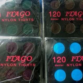 120針 絲襪 紫/啡/綠/藍
