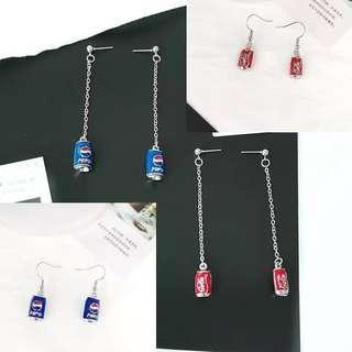 Pepsi and coke earring