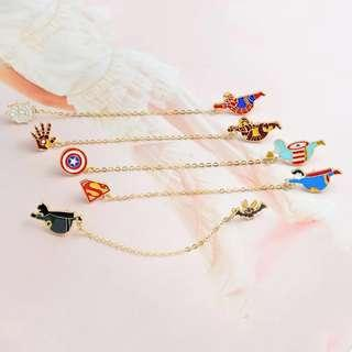 Superhero brooch