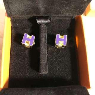 Hermes Earrings 耳環 紫金